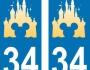 [Hors série] Sticker de plaques d'immatriculation Disney